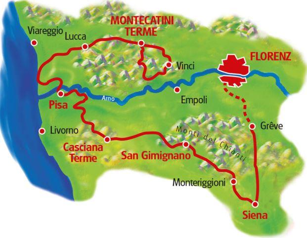Karta Italien Chianti.Toscana Och Chianti France Scotland Tours